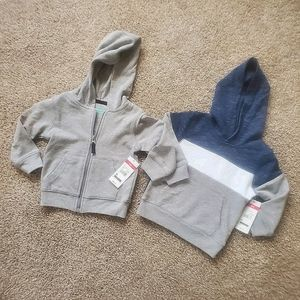 18 month boy zip up and pullover hoodies